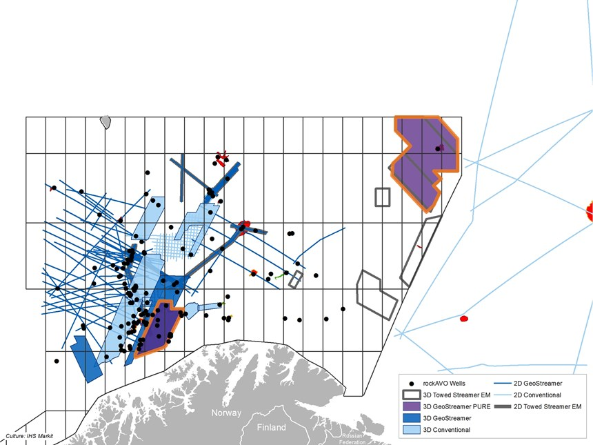 Website Map for Survey Norwegian Barents Sea