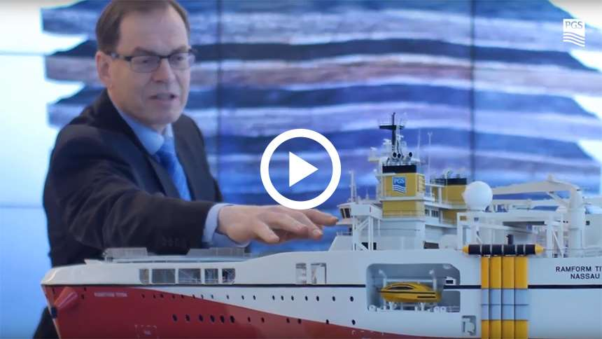 Video - Ramform Titan Class vessels and GeoStreamer