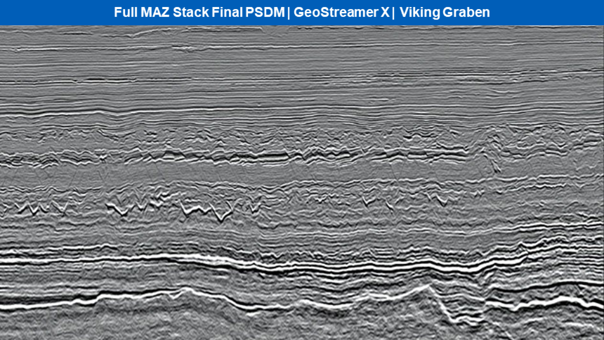 Full MAZ section of final PSDM data from GeoStreamer X Viking Graben 2019
