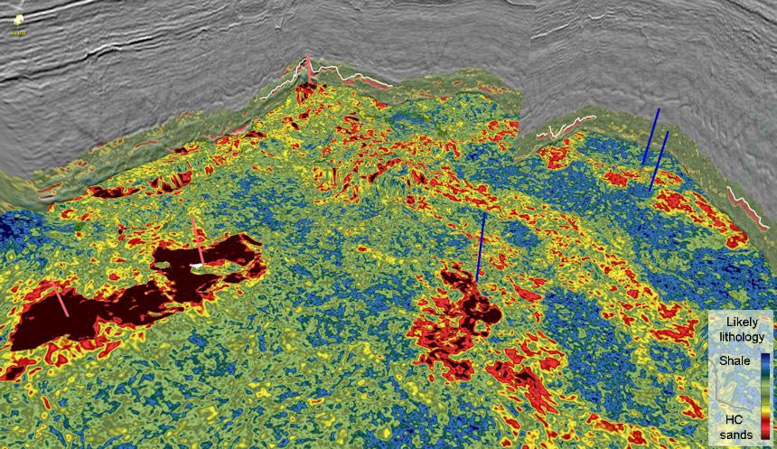 3D image of the southern part of a recent GeoStreamer 3D survey over the Beryl field showing proven and potential prospectivity