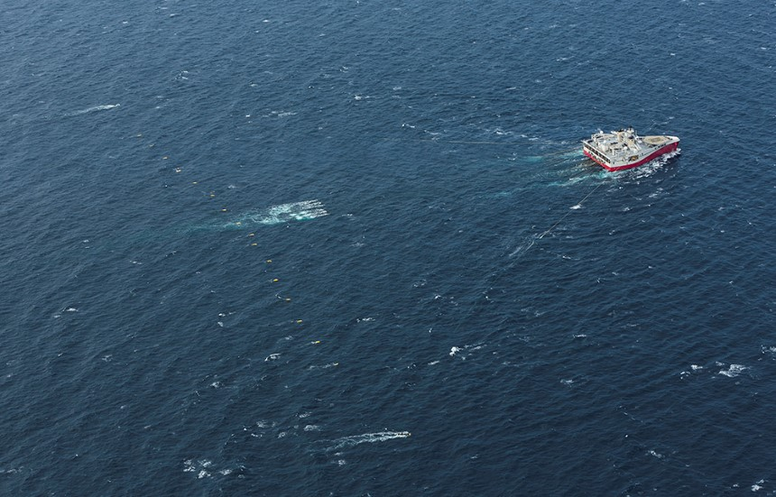 Ramform Atlas towing 16 streamers in the North Sea