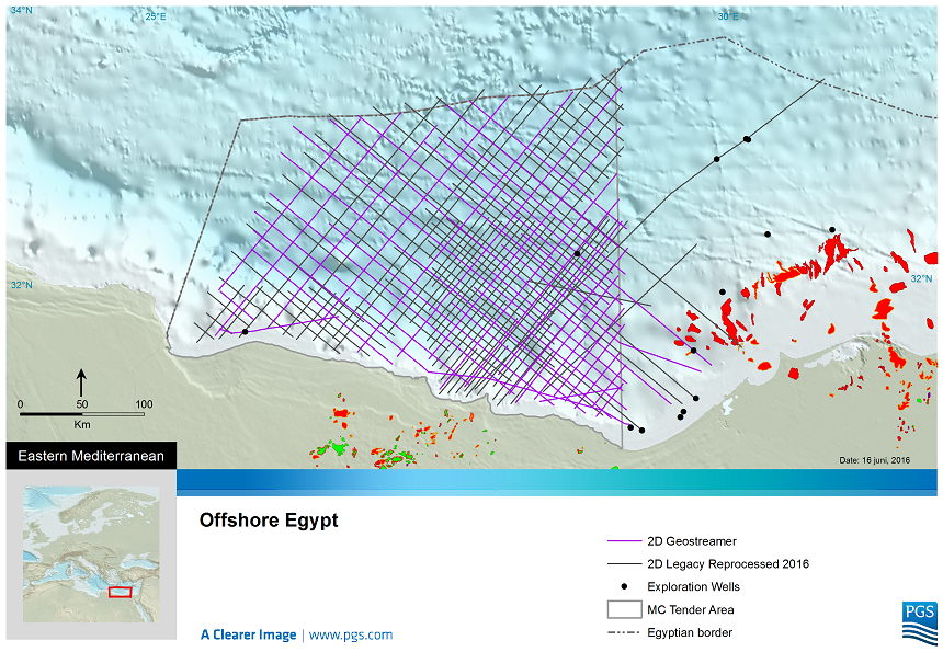 New and reprocessed PGS 2D data covering Egypt's West Mediterranean Sea