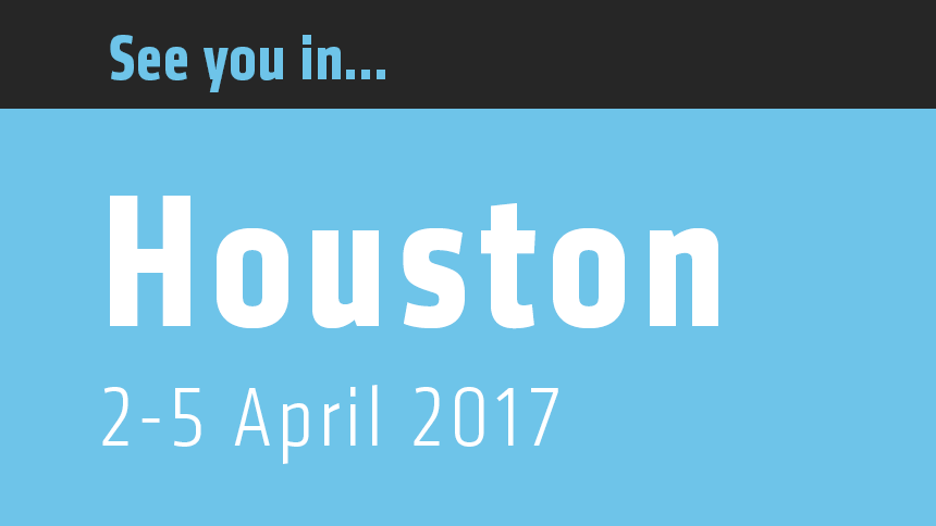 AAPG Houston 2017, 2-5 April.