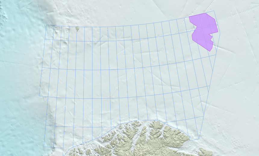 location map GeoStreamer PURE Barents Sea